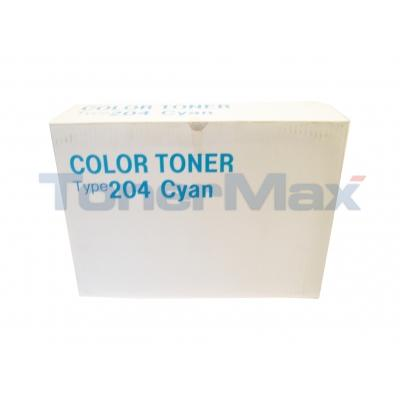RICOH AP204 TONER TYPE 204 CYAN